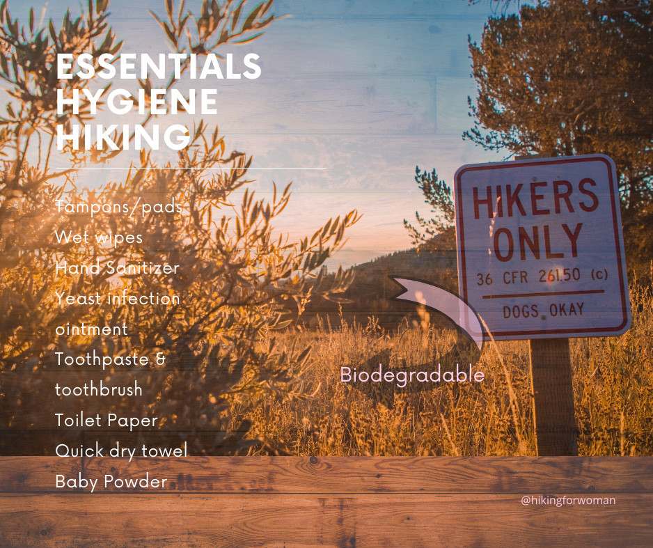 Essentials for Hygiene while hiking